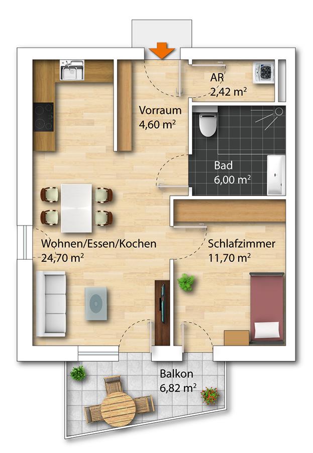 Plan WohnPartner-Wohnung