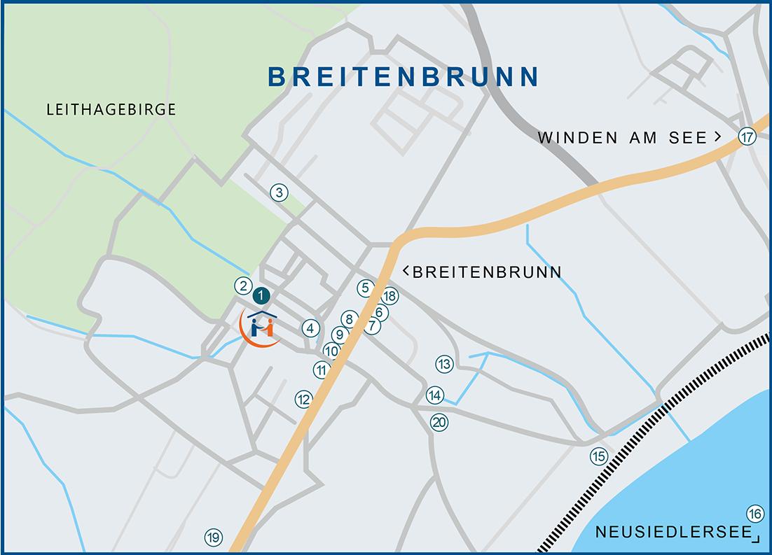 Lageplan Breitenbrunn